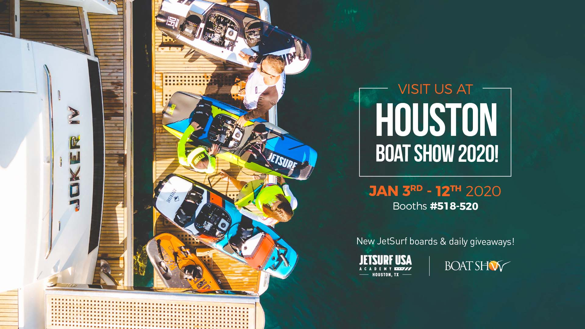JetSurf Houston at Houston Boat Show 2020